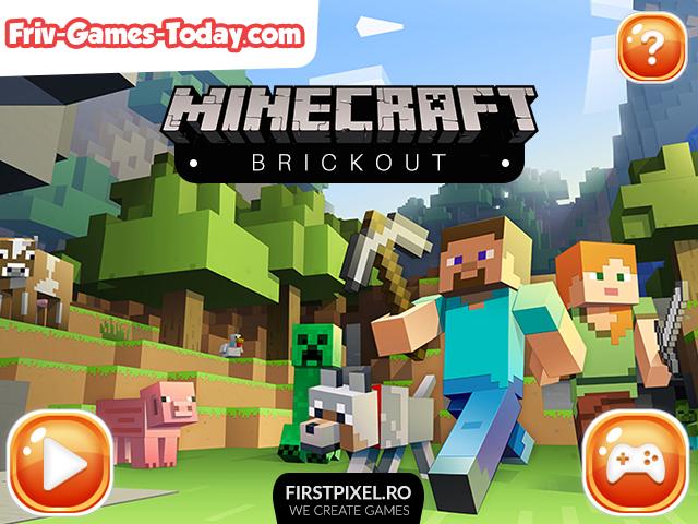 Minecraft Brickout HTML5 Game