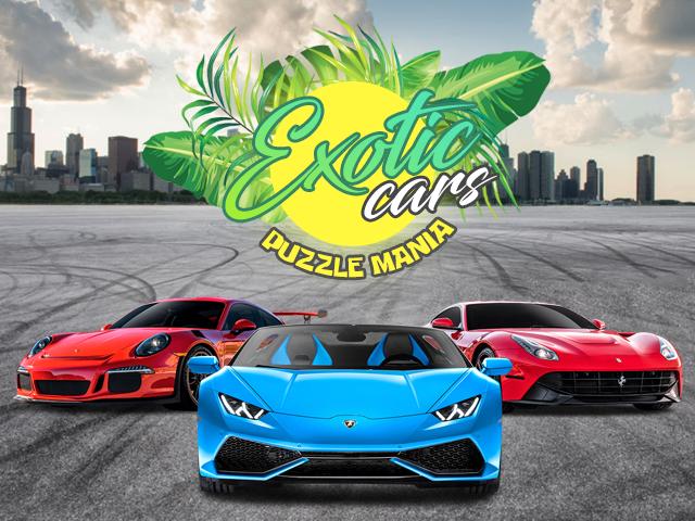 exotic car game puzzle mania