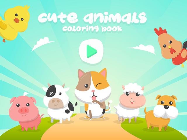 Cue Animals Coloring Book