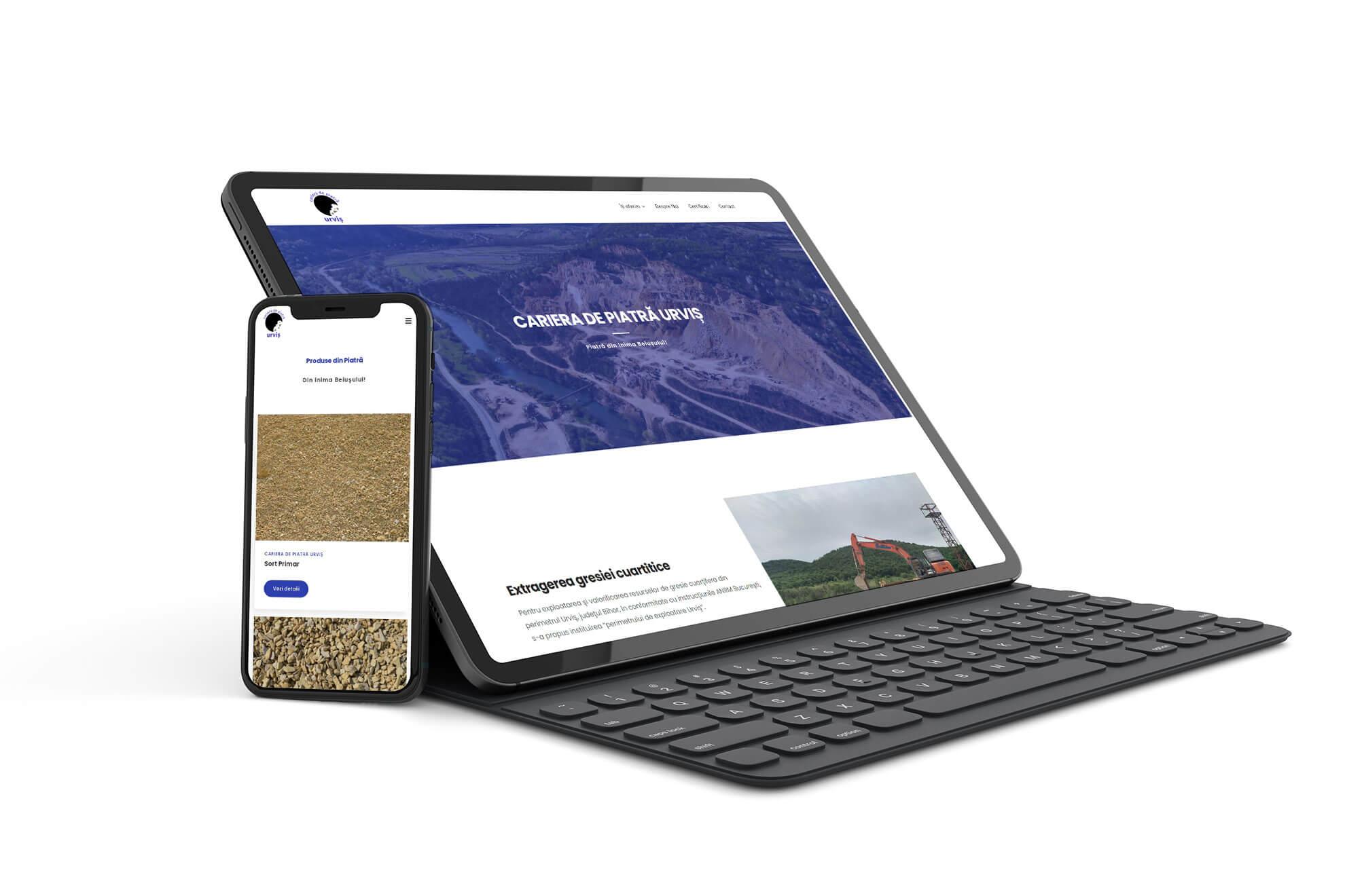 design si dezvoltare site de prezentare cariera de piatra urvis beius